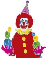 Clown jongleur