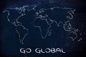 world map design: go global