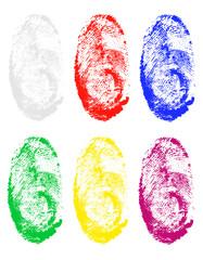 fingerprint of different colors vector illustration