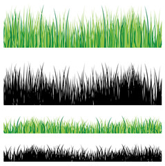 Vector grass collection