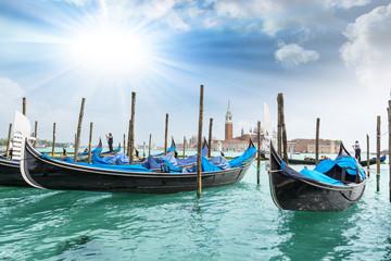 The Gondolas with beautiful sky