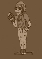 Hipster girl vintage
