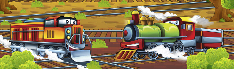 Cartoon trains