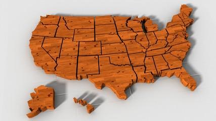 USA map texture legno