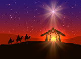 Christian Christmas background with star - 72408618