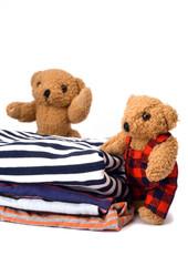 Teddys presenting Clothes