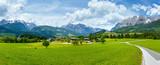 Summer Alpine country panorama (Austria)