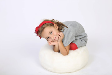 Sweet little girl posing