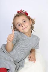 Little positive girl