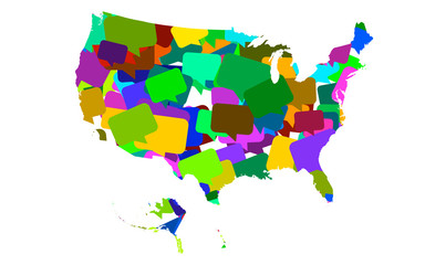 USA map bubbles