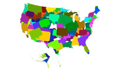 USA map bubbles
