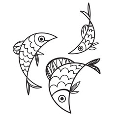 Fish - vector illustration, sign and symbol