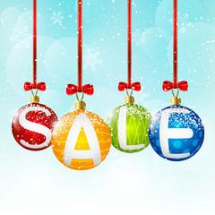 Christmas balls with sale message