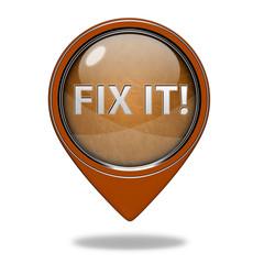 Fix it pointer icon on white background