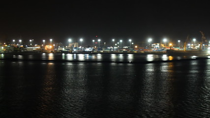 Constanta seaport at night