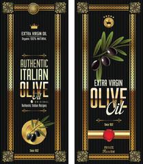 Black olive gold and black banner collection