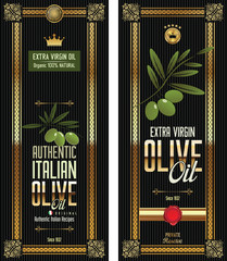 Green Olive gold and black banner collection