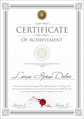 Gray certificate template