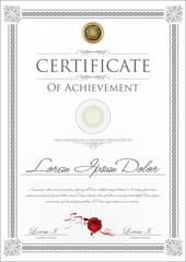 Gray certificate template