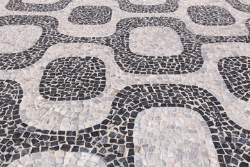 Ipanema pattern in Rio de Janeiro