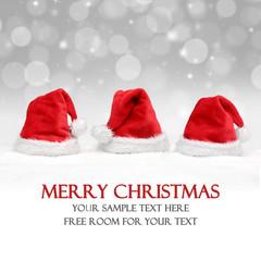 Weihnachtsmützen / Hintergrund / Mütze