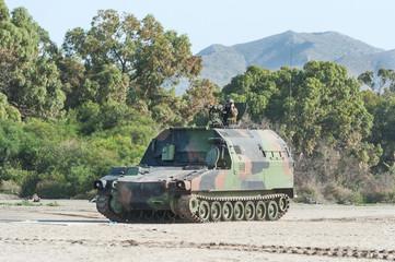 Amphibious Vehicle on Nato Military Training Exercises in Spain