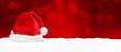 canvas print picture - Weihnachtsmütze / Hintergrund