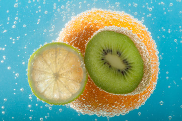 Fruits in water.