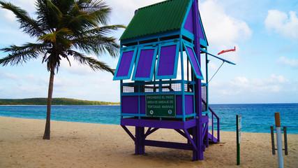 Puesto de Vigilancia en Sun Bay. Caribe, Vieques. Puerto Rico.