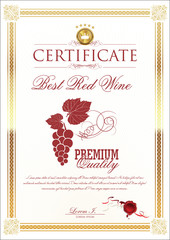 Certificate - Best Red Wine