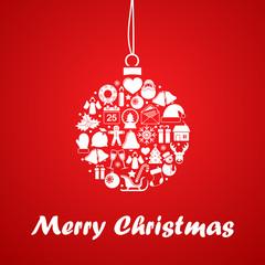 Christmas ball of christmas icons