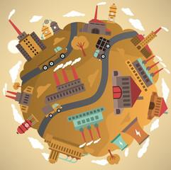 Around the world (factory)