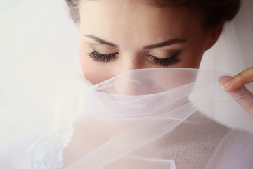 Portrait of a delicate bride