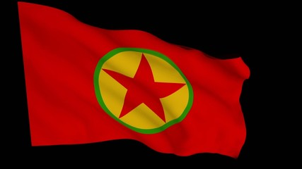Flag animation with alpha - Kurdistan Workers' Party
