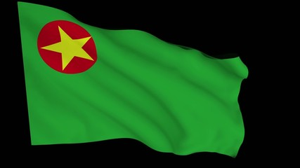 Flag animation with alpha - National Democratic Front Bodoland