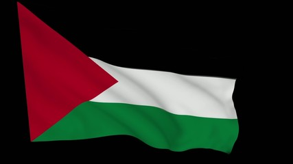 Flag animation with alpha - Palestine Liberation Organization
