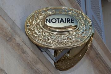 Notaire plaque