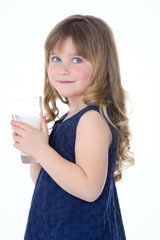 profile of shy little child