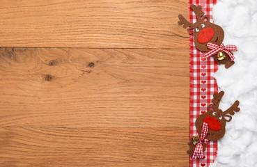 Rentiere Weihnachten Hintergrund - Holz