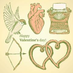 Sketch cute Valentine set