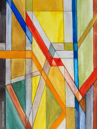 an abstract watercolor painting - 72414608