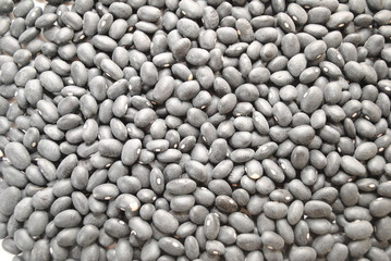 Background of Black Dried Beans