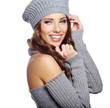 canvas print picture - Beautiful winter woman