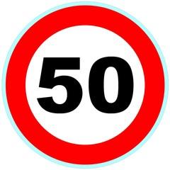Panneau routier 50 signalisation 1