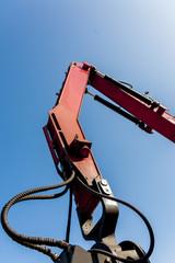 red crane boom