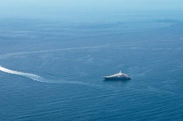 Luxury yacht, coast of Taormina.