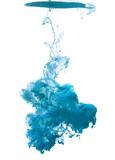 Blue cloud of ink