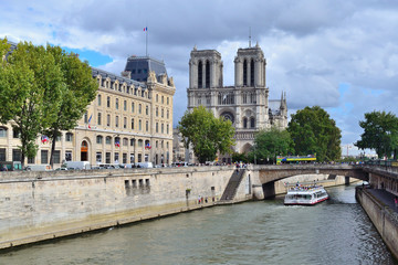 Paris. Quay of the river Seine