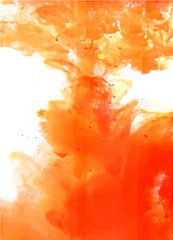 Orange cloud of ink