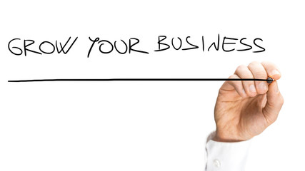 Handwritten Underlined Grow Your Business Texts